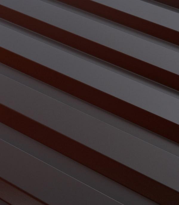 Купить Профнастил С20 1.15х2.00 м толщина 0.5 мм коричневый RAL8017, Коричневый