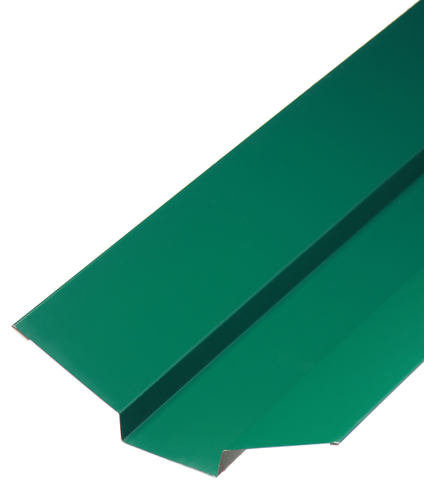 Ендова внешняя для металлочерепицы 90х70х90 мм, 2 м зеленая RAL 6005 планка торцевая для металлочерепицы 80х100 мм 2м зеленая ral 6005