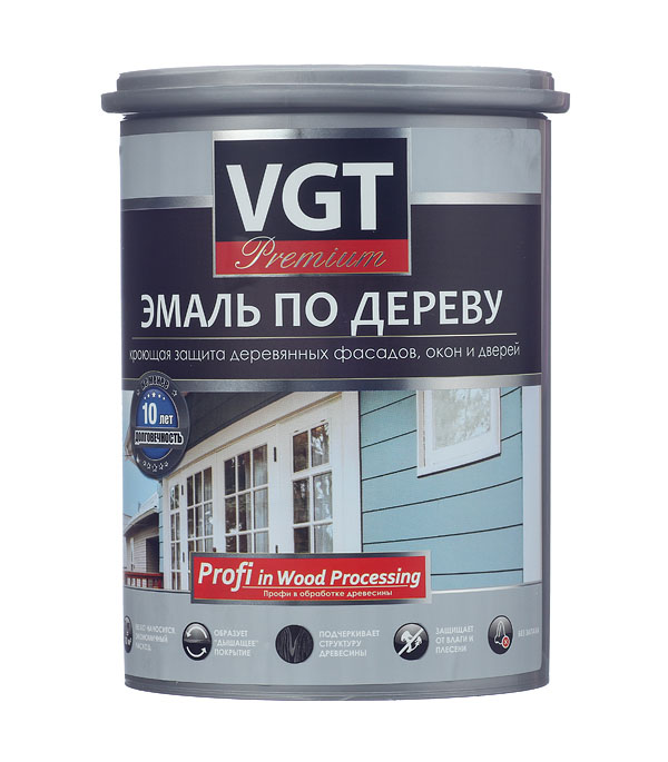 Эмаль акриловая по дереву Профи фисташковая VGT 1 кг