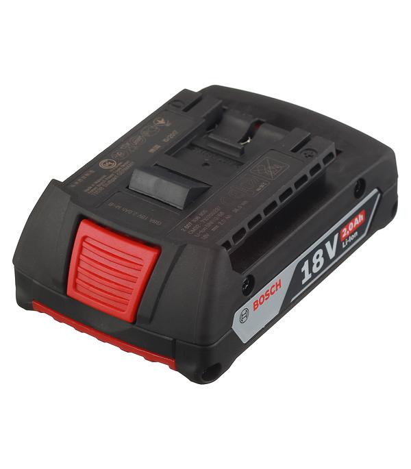 Аккумуляторная батарея Bosch 18 В Li-ion 2.0 Ач аккумулятор для дрели шуруповерта 144 afb 14 4 в 2 6 ач li ion kress