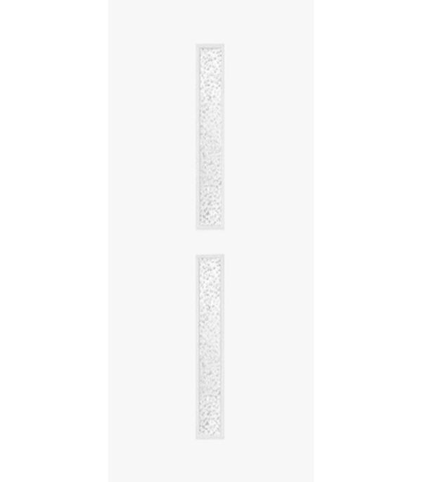 Дверное полотно ламинированное гладкое ДУО белое 800х2000 мм со стеклом без притвора