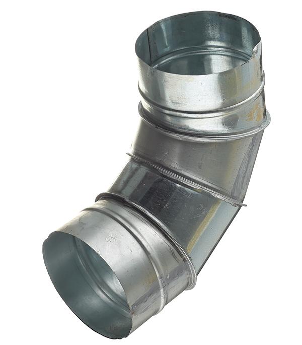 Отвод для круглых воздуховодов оцинкованный d125 мм на 90° врезка оцинкованная для круглых стальных воздуховодов d125х100 мм