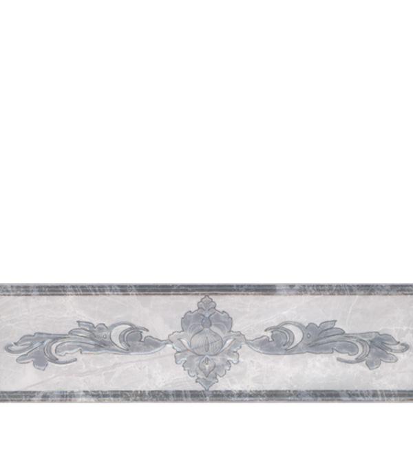Плитка бордюр 270х77х8мм Дельма серый бордюр дельта керамика orchid b300d135 4 5x30