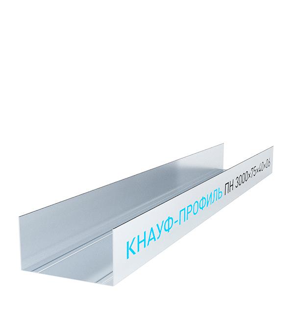 Профиль направляющий Knauf 75х40 мм 3 м 0.60 мм пн 75х40 3 м оптима 0 45 мм