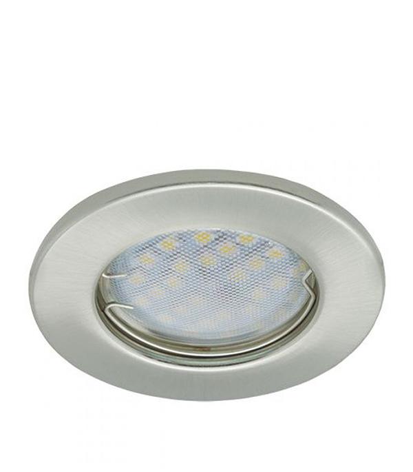 Светильник встраиваемый для лампы MR16 80мм сатин-хром