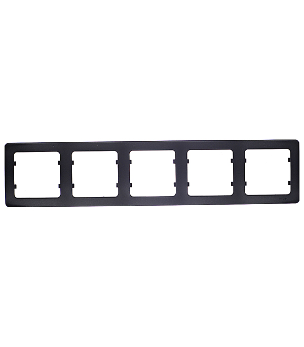 Рамка пятиместная Hegel Master черный рамка для розеток и выключателей lk60 3 поста чёрный бархат