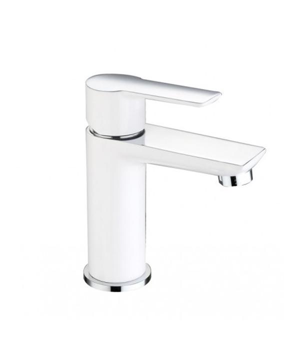 Смеситель для умывальника ARGO PREMIUM OLIMP 35-04P однорычажный c высоким изливом белый/хром комплектующие