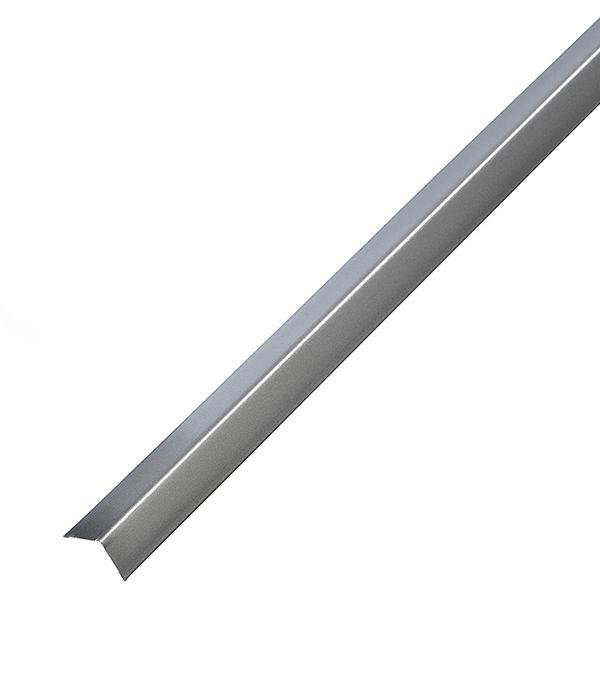 Купить Профиль угловой универсальный PL 19х24х3000 мм серебристый металлик, Серебристый металлик, Оцинкованная сталь