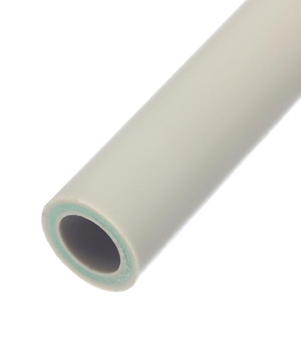 Купить Труба полипропиленовая, армированная стекловолокном 32х2000 мм, PN 20 FV-PLAST серая, Серый