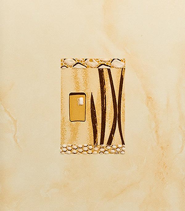 Плитка декор Carrara 200х300х7 мм палевая ЛАЙТ цена