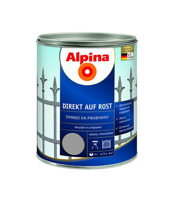 Эмаль по ржавчине Alpina серебристая RAL9006 0.75 л