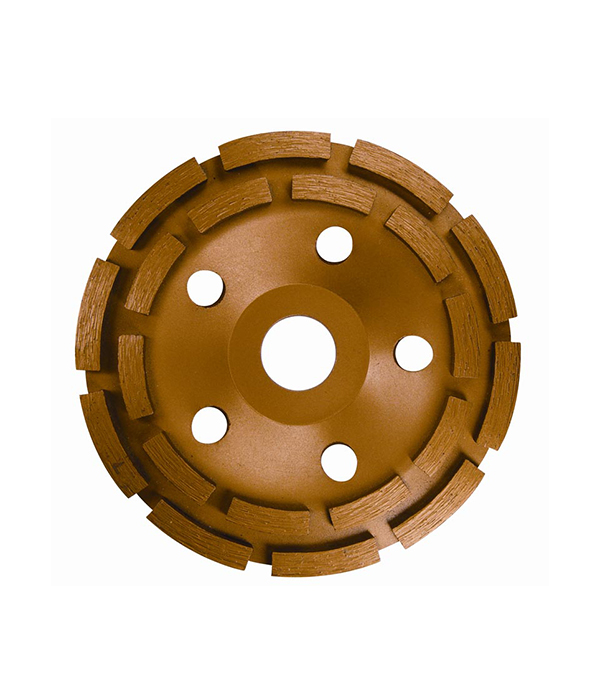 Чашка алмазная для бетона 125х22 мм двурядная диск зачистной cbs 125х22 2 мм fit 39611