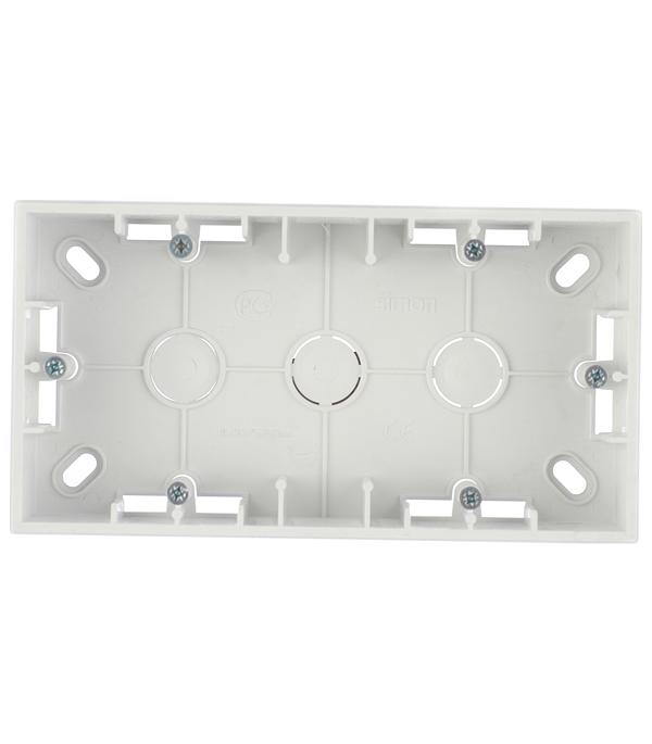 Монтажная коробка для накладного монтажа 2 поста алюминий Simon 15 монтажная коробка для накладного монтажа 2 поста графит simon 15