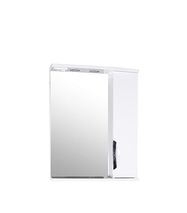 Зеркальный шкаф АСБ-Мебель Мессина 600 мм с подсветкой белый зеркальный шкаф asb mebel мессина 9885