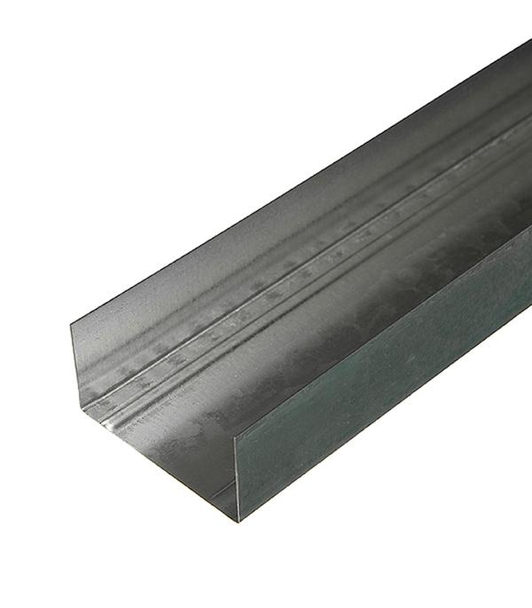 Профиль направляющий Стандарт 75х40 мм 3 м 0.50 мм пн 75х40 ua 3м усиленный для дверных проемов 2 мм