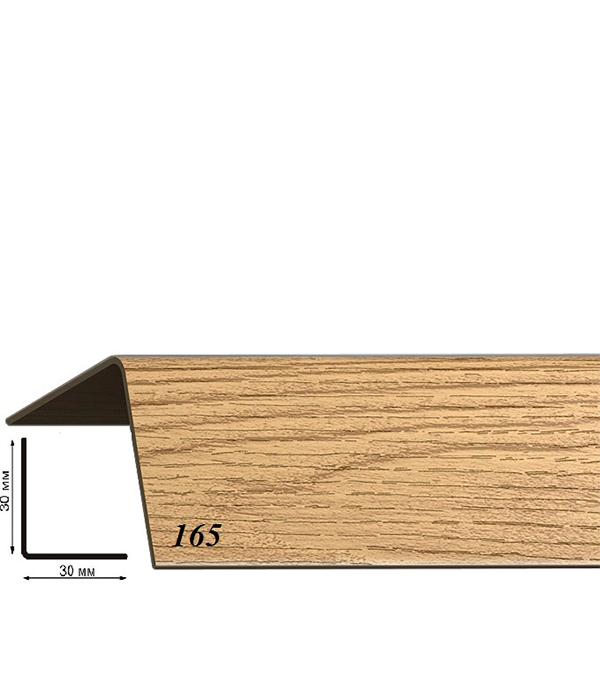 Угол пластиковый с тиснением 30х30х2700 дуб коньячный 165