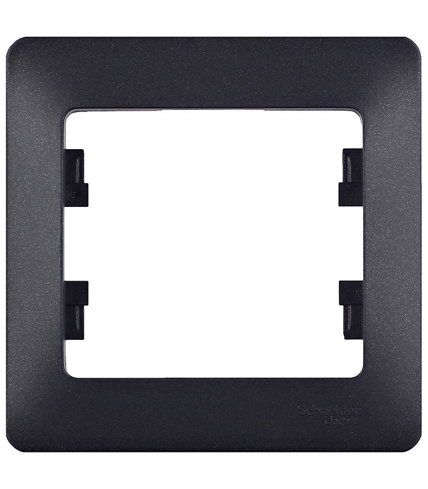 Рамка oдноместная Schneider Electric Glossa антрацит рамка schneider electric glossa 1063724
