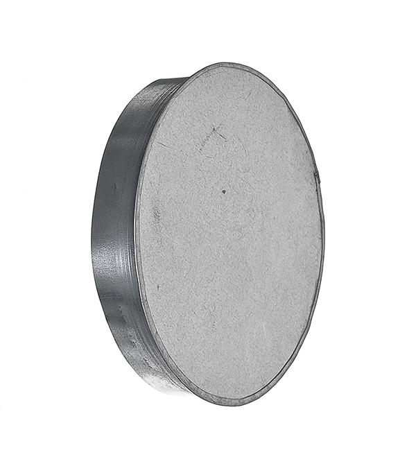 Купить Заглушка оцинкованная d200 мм, Хром, Сталь оцинкованная