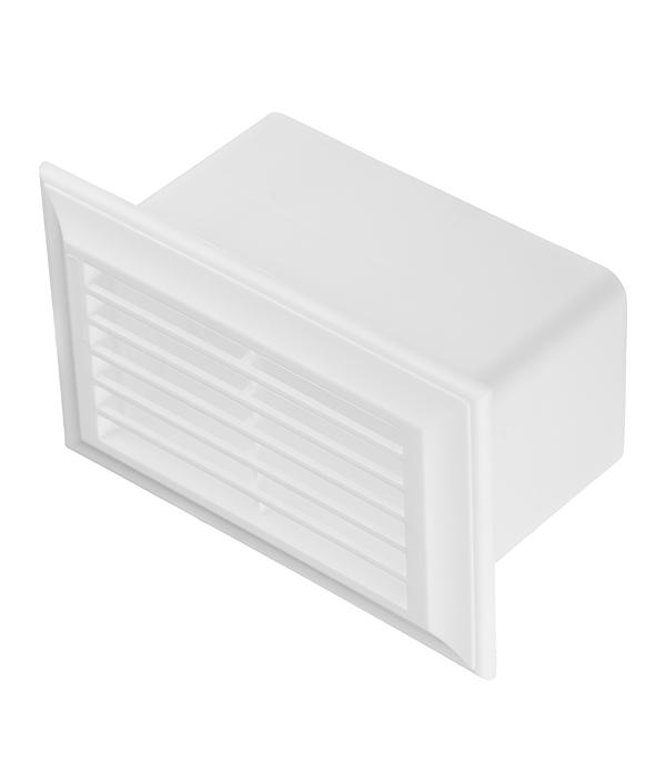 Вентиляционная решетка торцевая для плоских воздуховодов 55х110 мм врезка оцинкованная для круглых стальных воздуховодов d125х100 мм