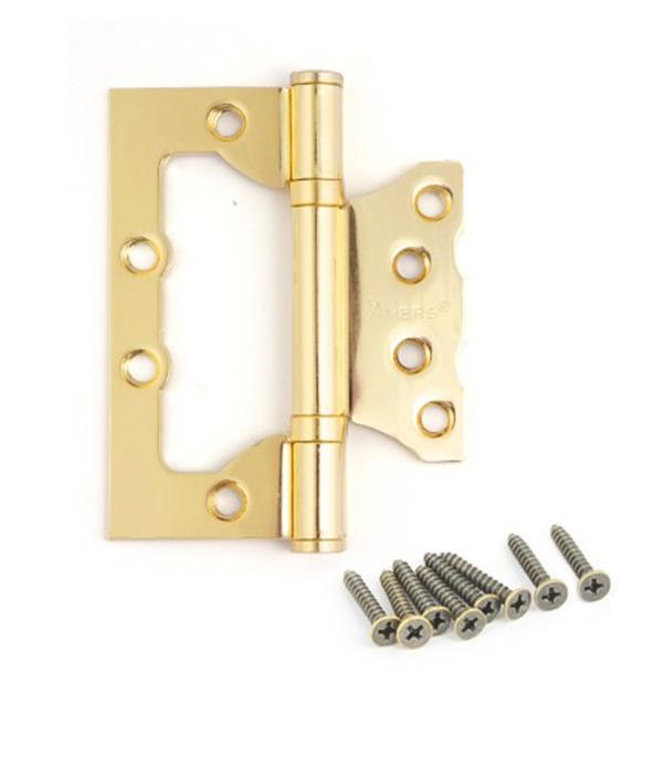 Петля универсальная накладная 75 мм золото дверные петли koral петля накладная без врезки 5x3x2 5 cp хром