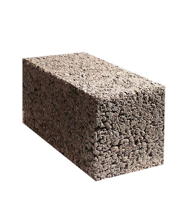 Керамзитобетонный блок полнотелый ПСКЦ 390х190х188 мм