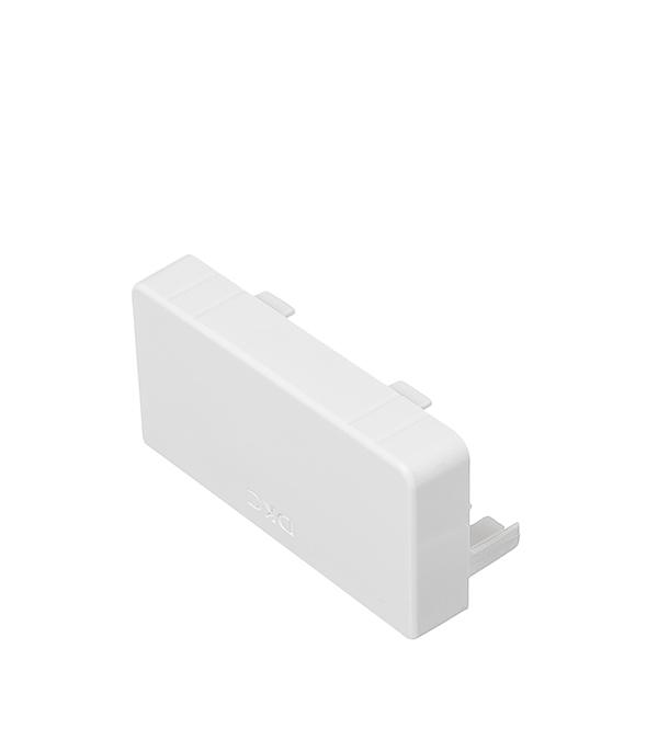 Заглушка для кабель-канала ДКС 80х40 мм торцевая белая кабель