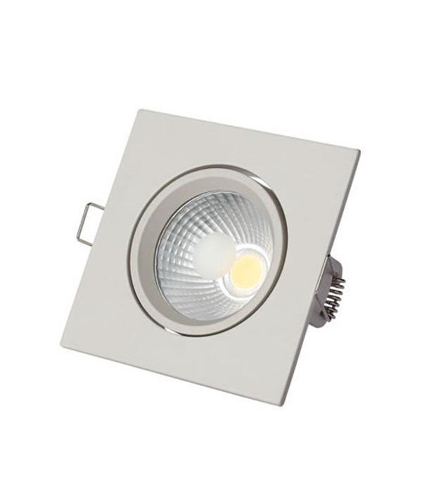 Светильник встраиваемый 5 Вт светодиодный 88х88мм поворотный белый 3000К IP20 220В