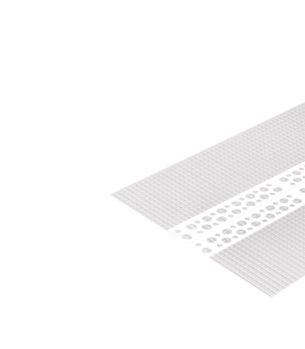 Профиль углозащитный штукатурный универсальный (пластиковый, с сеткой) 100х100 мм, 3м профиль углозащитный алюминиевый 20х20 мм 3 м