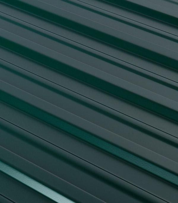 Купить Профнастил С10 1.18х2.00 м толщина 0.5 мм двухсторонний зеленый RAL 6005, Зеленый