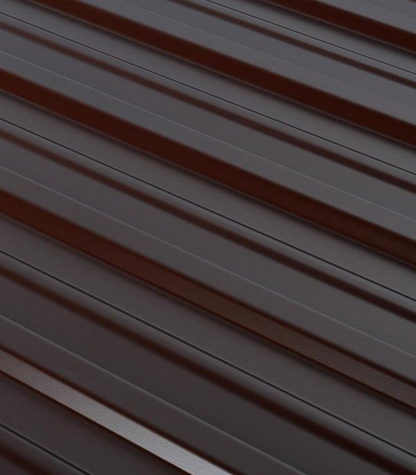 Купить Профнастил С10 1.18х2.00 м толщина 0.5 мм двухсторонний коричневый RAL 8017, Коричневый