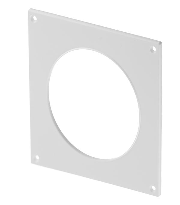 Накладка настенная для круглых воздуховодов пластиковая d100 мм врезка оцинкованная для круглых стальных воздуховодов d125х100 мм
