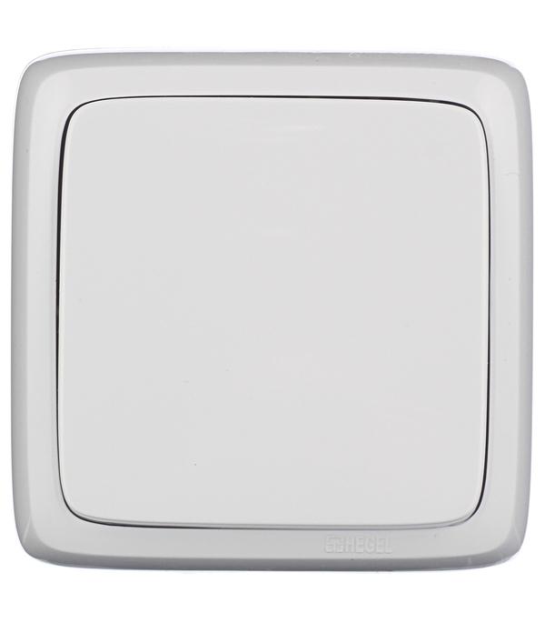 Выключатель одноклавишный HEGEL Alfa о/у белый выключатель одноклавишный legrandquteo о у влагозащищенный ip 44 белый