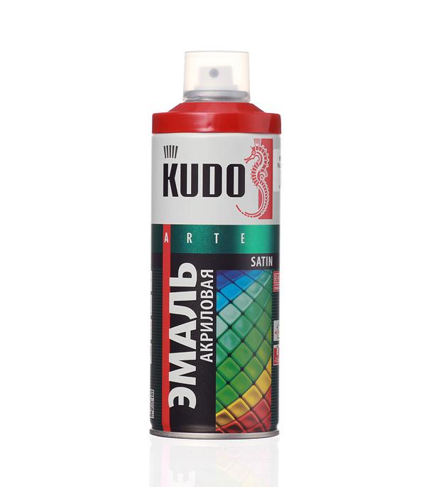 Эмаль акриловая аэрозольная Kudo satin Ral 3000 огненно-красная 520 мл