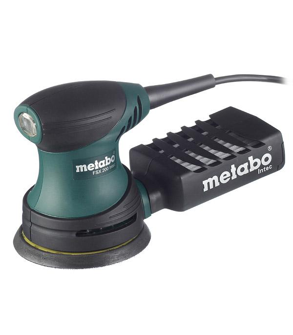 Шлифмашина эксцентриковая Metabo FSX 200 Intec 240 Вт 125 мм эксцентриковая шлифмашина metabo fsx 200 intec 240вт 125мм 609225500