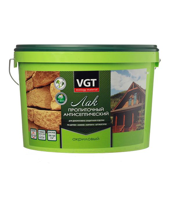 цена Лак антисептик акриловый VGT сосна 9 кг