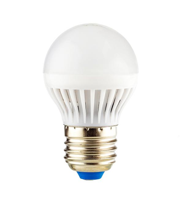 Лампа светодиодная E27  7W, G45 (шар), 4000K, дневной свет, REV