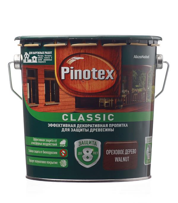 Декоративно-защитная пропитка для древесины Pinotex Classic орех 2.7 л