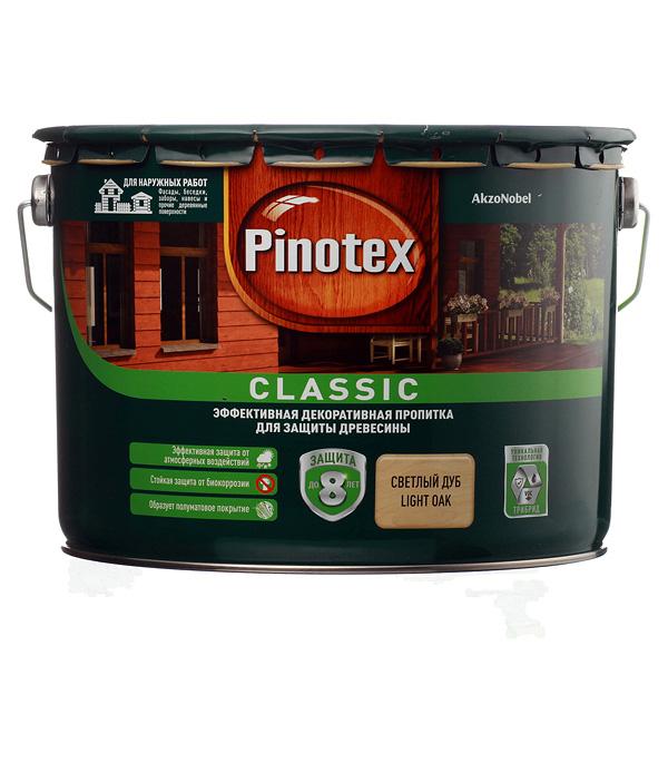Купить Декоративно-защитная пропитка для древесины Pinotex Classic светлый дуб 9 л, Дуб