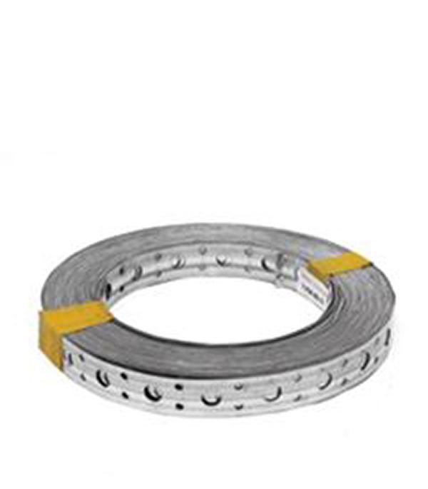 Лента крепежная перфорированная ЛСП 17х0.5 мм 25 м врезка оцинкованная для круглых стальных воздуховодов d125х100 мм
