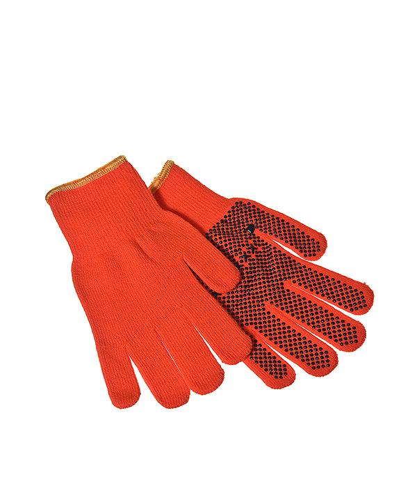 Купить Перчатки вязаные KWB с ПВХ покрытием универсальные, Оранжевый