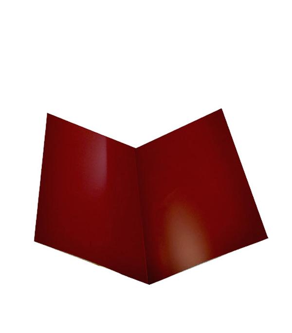 Ендова внутренняя для металлочерепицы красная RAL 3005 200х200 мм 2 м планка примыкания для металлочерепицы 2 м красное вино ral 3005