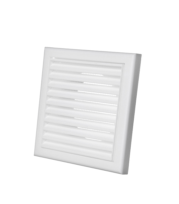 Вентиляционная решетка пластиковая Вентс 154х154 мм c фланцем d100 мм