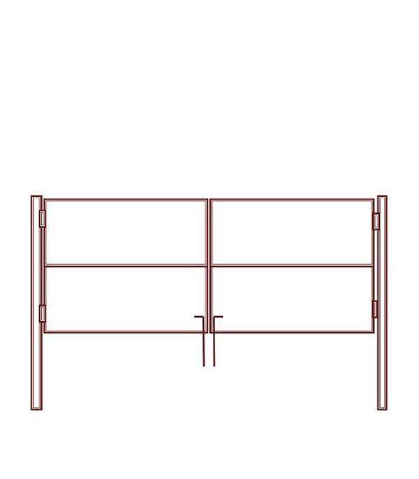 Ворота каркас 3100х1500 мм грунт грунт адгезионный лакра 6кг