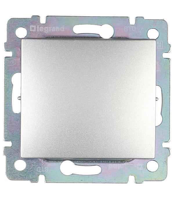 цена Механизм выключателя одноклавишного Legrand Valena с/у алюминий