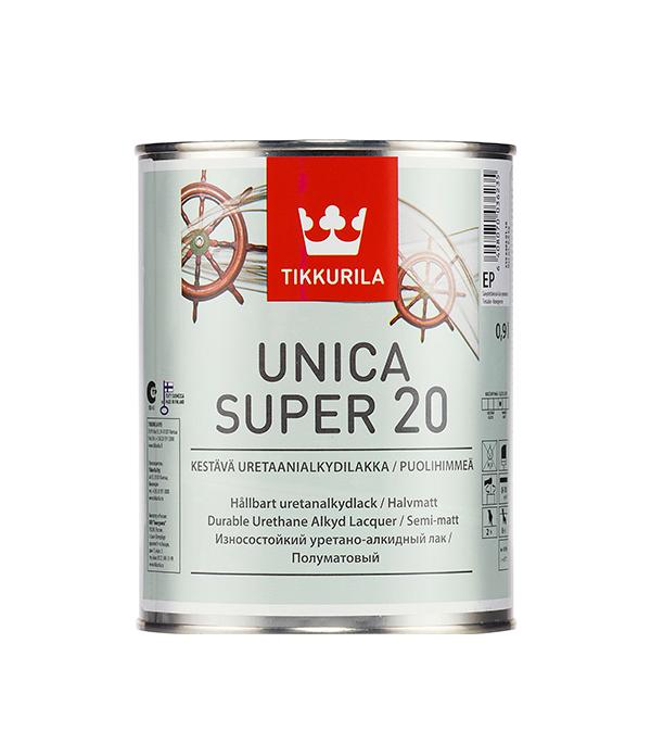 цена на Яхтный лак Tikkurila Unica Super основа EP полуматовый 0.9 л