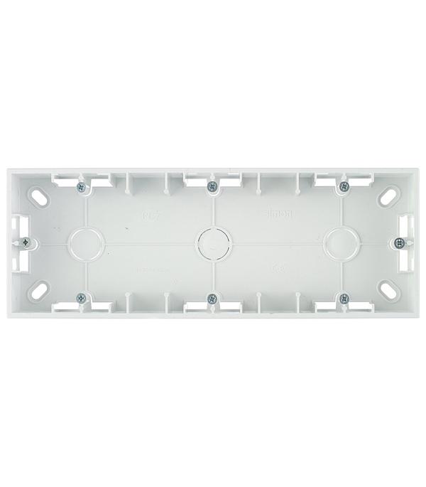 Монтажная коробка для накладного монтажа 3 поста белый Simon 15 монтажная коробка для накладного монтажа 2 поста графит simon 15