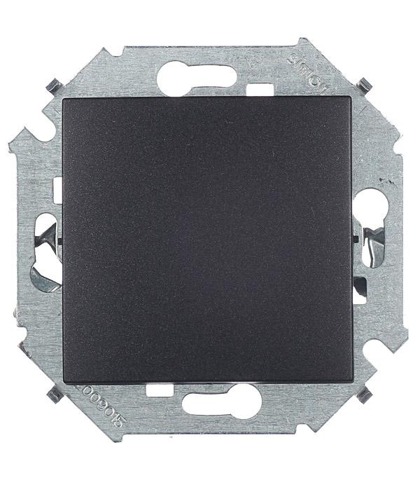 Выключатель проходной (переключатель) 16А 250В винтовой зажим графит Simon 15 переключатель simon 15 1591201 030