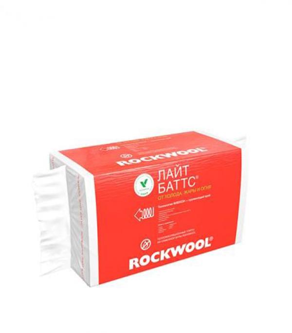 Утеплитель ROCKWOOL Лайт Баттс 1000х600х50 мм 6 кв.м теплоизоляция rockwool лайт баттс 1000х600х100мм