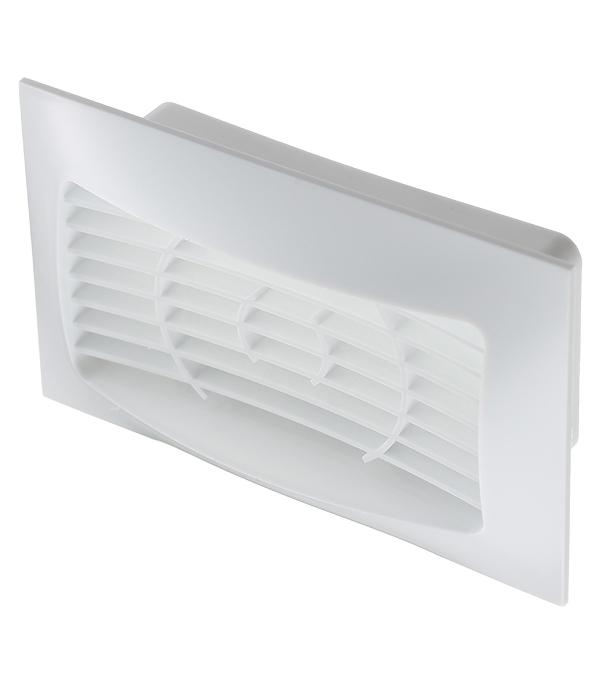 Вентиляционная решетка торцевая для плоских воздуховодов 60х120 мм врезка оцинкованная для круглых стальных воздуховодов d125х100 мм