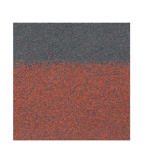 Черепица гибкая коньково-карнизная ШИНГЛАС Ранчо/Финская микс красный 3 кв.м ендова для битумной черепицы шинглас 1х10 м коричневый агат мускат
